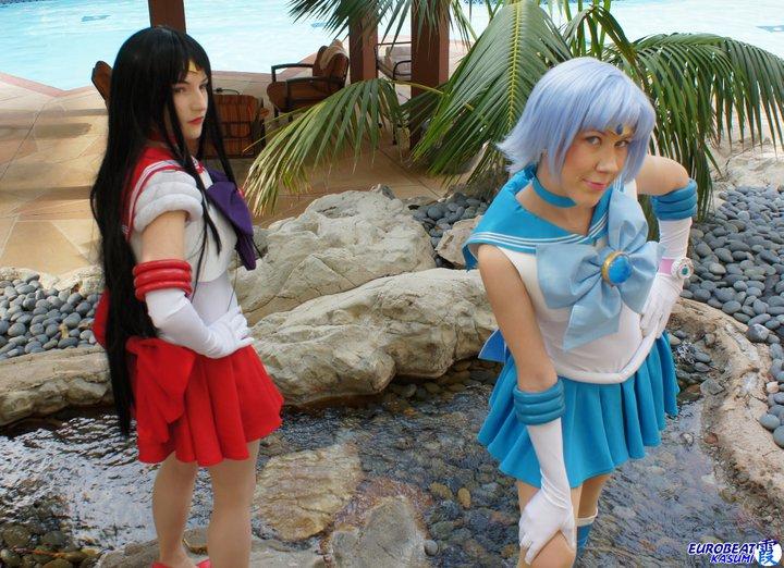 Photo by  Eurobeat Kasumi   Sailor Mercury is  Nyunyu Cosplay