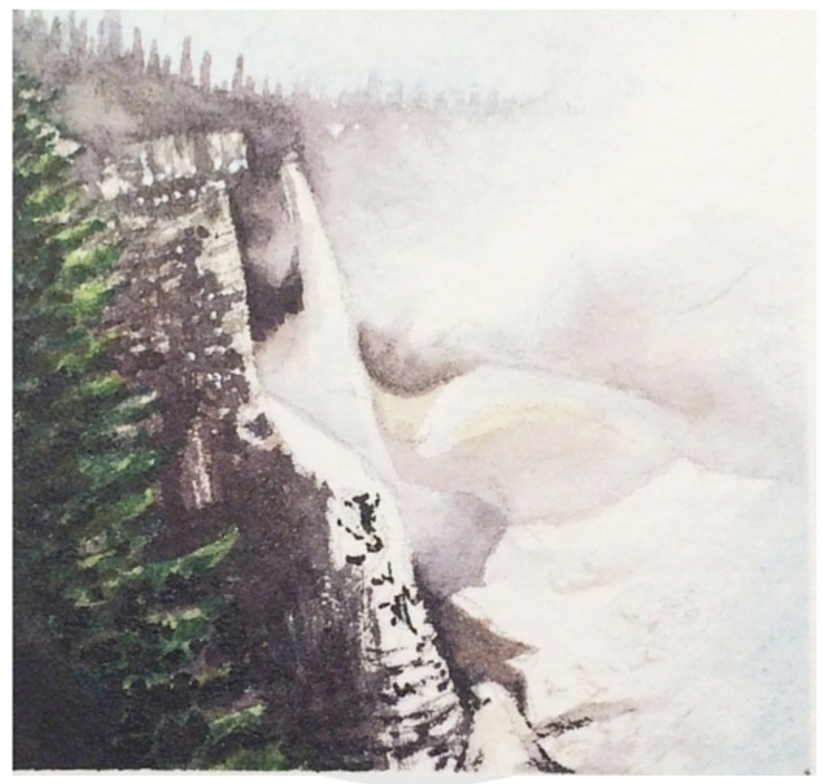 January 25, 2016  watercolour on Arches Aquarelle 140 lb paper  two inches x two inches  SOLD