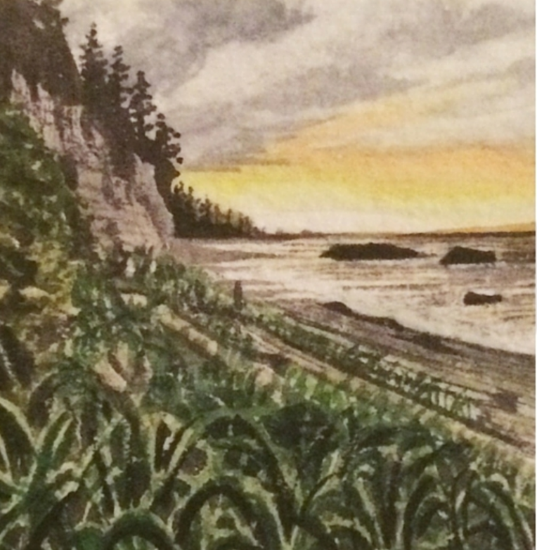 February 3, 2016  watercolour on Arches Aquarelle 140 lb paper  two inches x two inches  SOLD