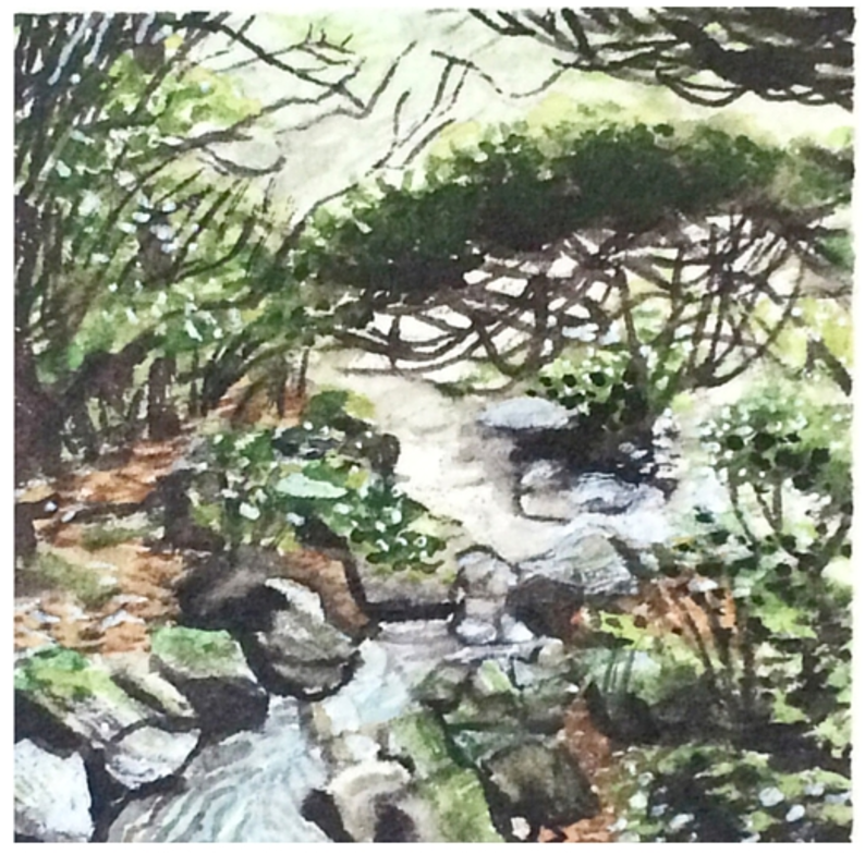 February 20, 2016  watercolour on Arches Aquarelle 140 lb paper  two inches x two inches  SOLD