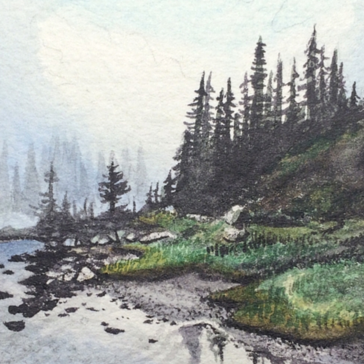 January 5, 2016  watercolour on Arches Aquarelle 140 lb paper  two inches x two inches  SOLD