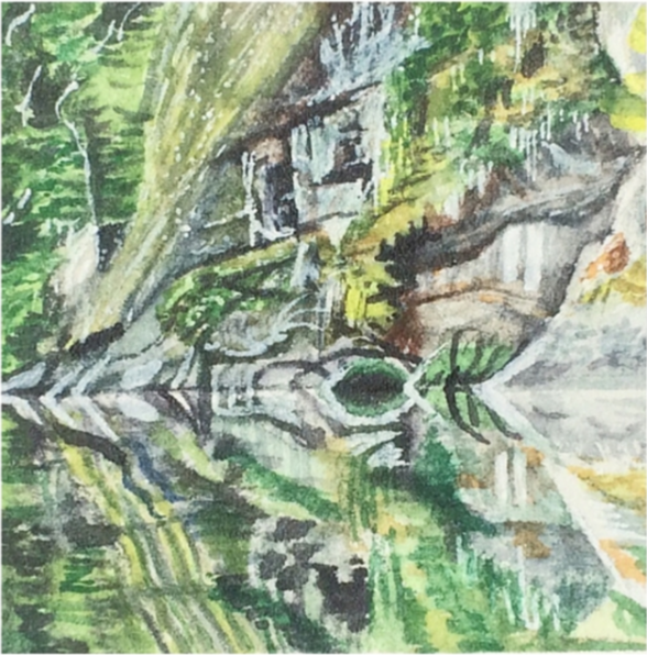 March 23, 2016  watercolour on Arches Aquarelle 140 lb paper  two inches x two inches  SOLD