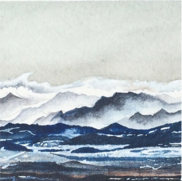 March 25, 2016  watercolour on Arches Aquarelle 140 lb paper  two inches x two inches  SOLD