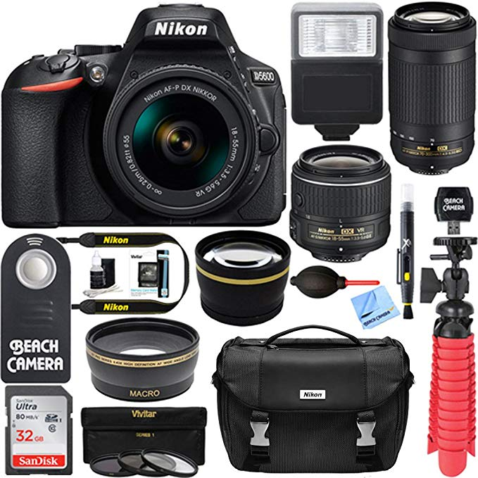 Nikon D5600 + Accessory Kit - This is the camera I use for Vlogging, taking instagram pictures, and just capturing life whether it be through photos or video! The screen flips around so it is great for vlogging!