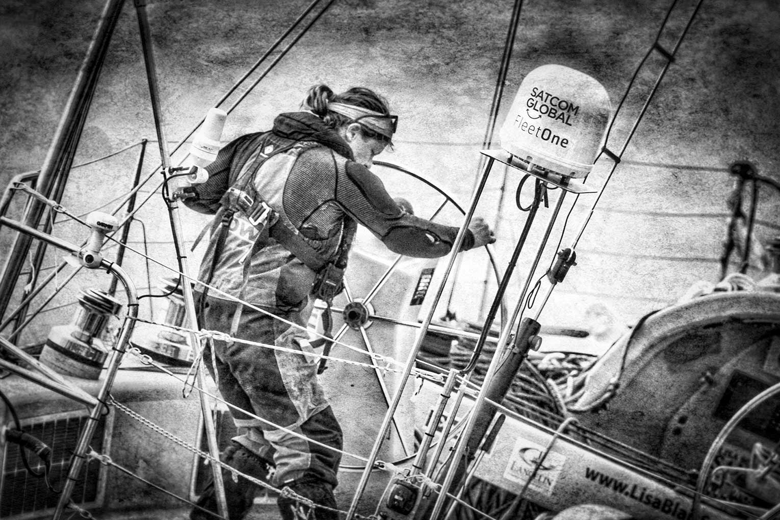 Lisa Blair Sails the World   Lisa is the first woman to sail around Antarctica solo completing the trip in 183 days.   Learn more