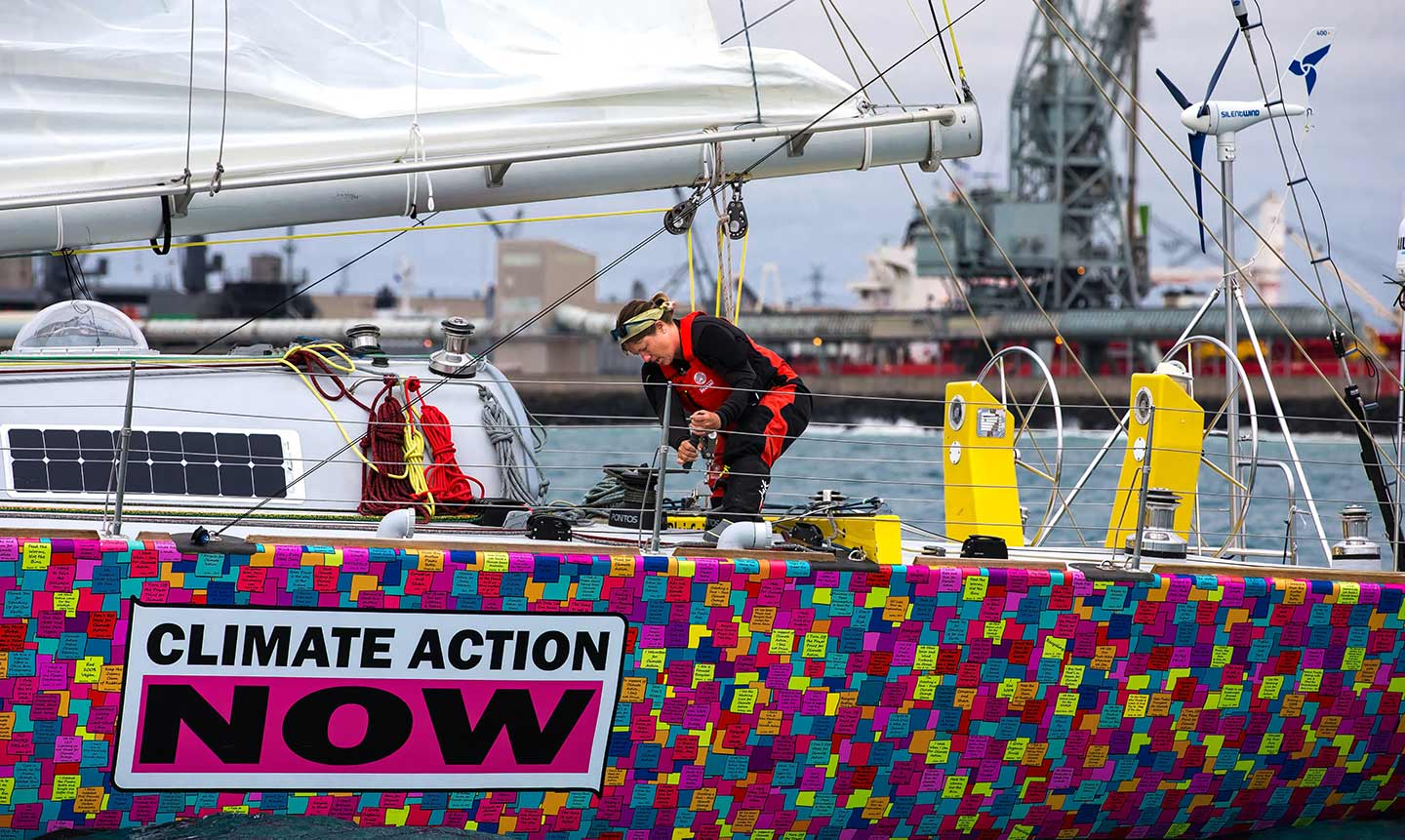Climate action now   Since Lisa began sailing in 2005 she has noticed the impact that man-made climate change has on our environment.   Learn more