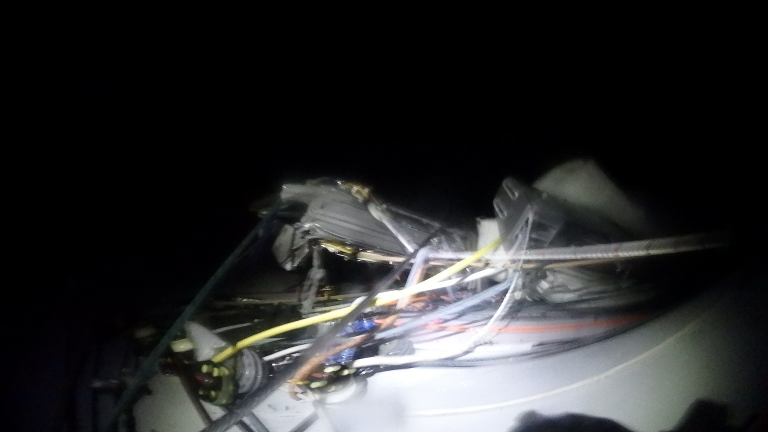 Mast Broken on Deck