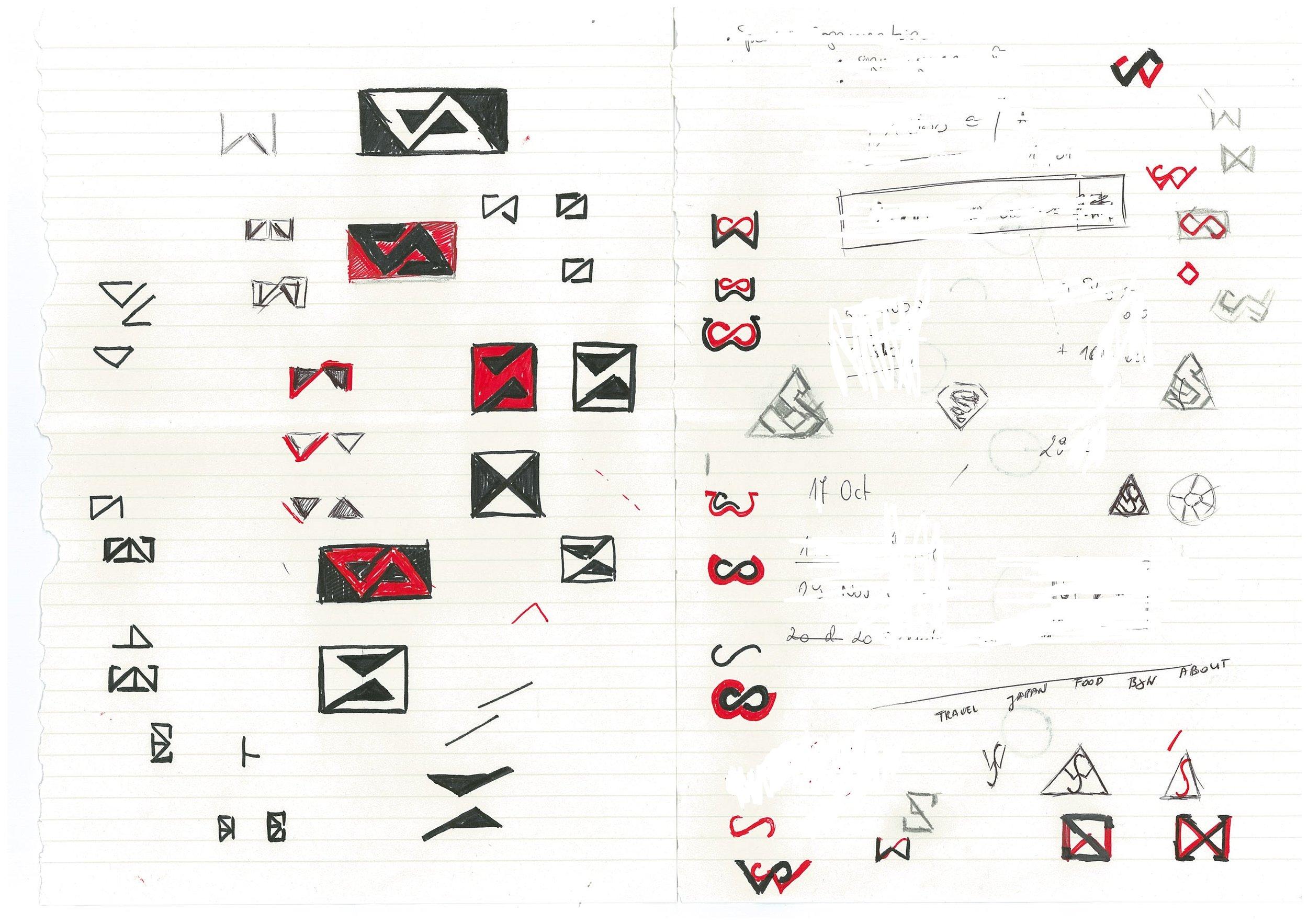 My logo design process - initial ideas