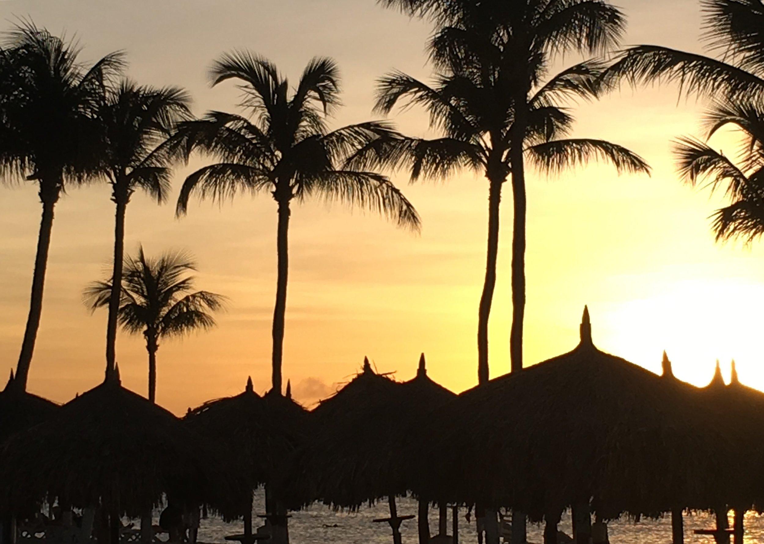 Wanderlust-blog-Aruba-sunset