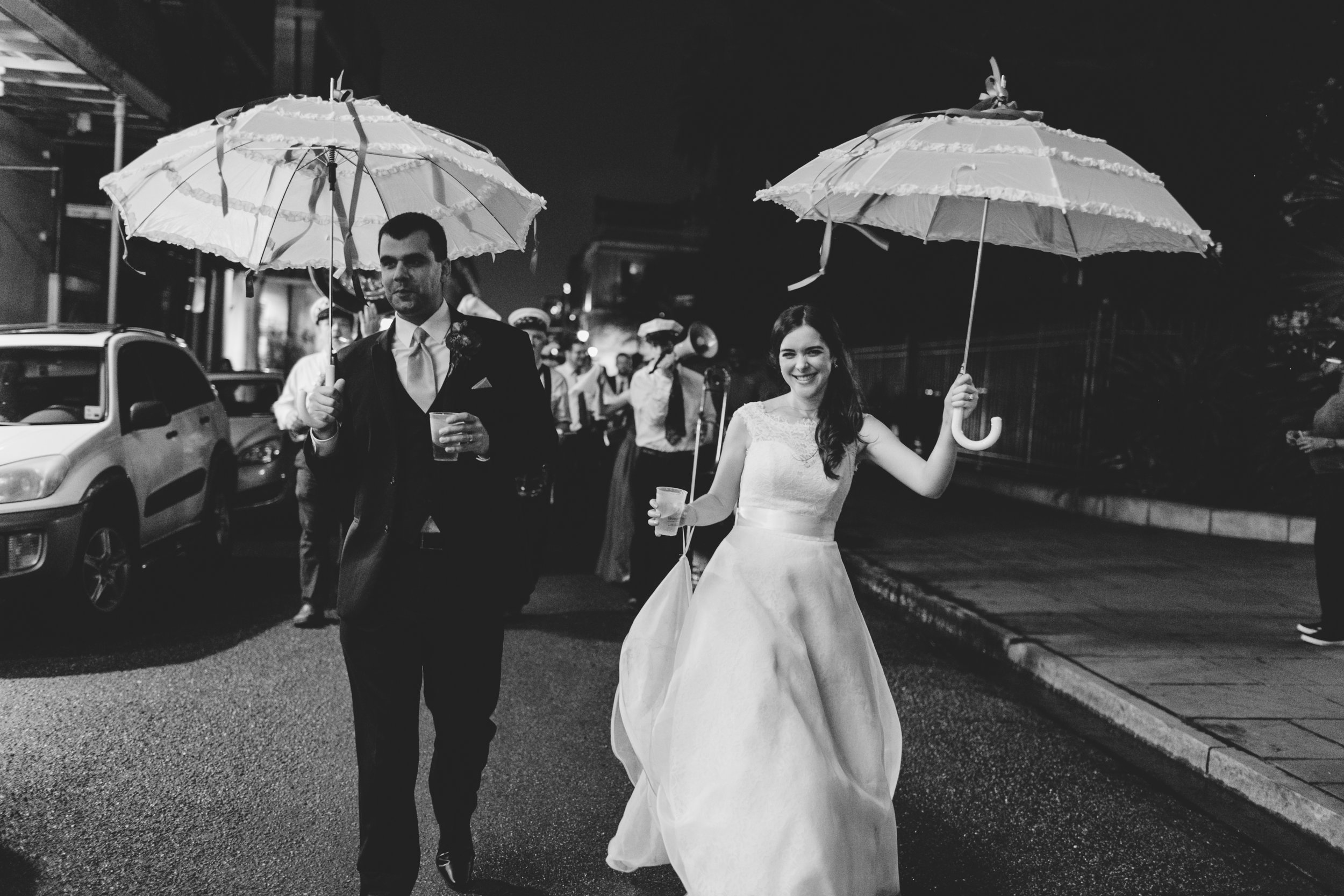 The Bride and Groom of a Second Line Parade. Photo by Christie for Hi Volt Studios