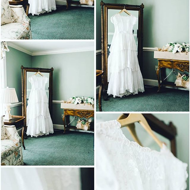 We love how our bride @sarahbienespeoples chose to wear her Grandmother's #weddingdress on her #weddingday Something old, something new, something borrowed, something blue...