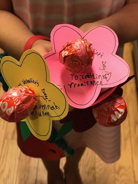 Tootsie Roll Pop flowers