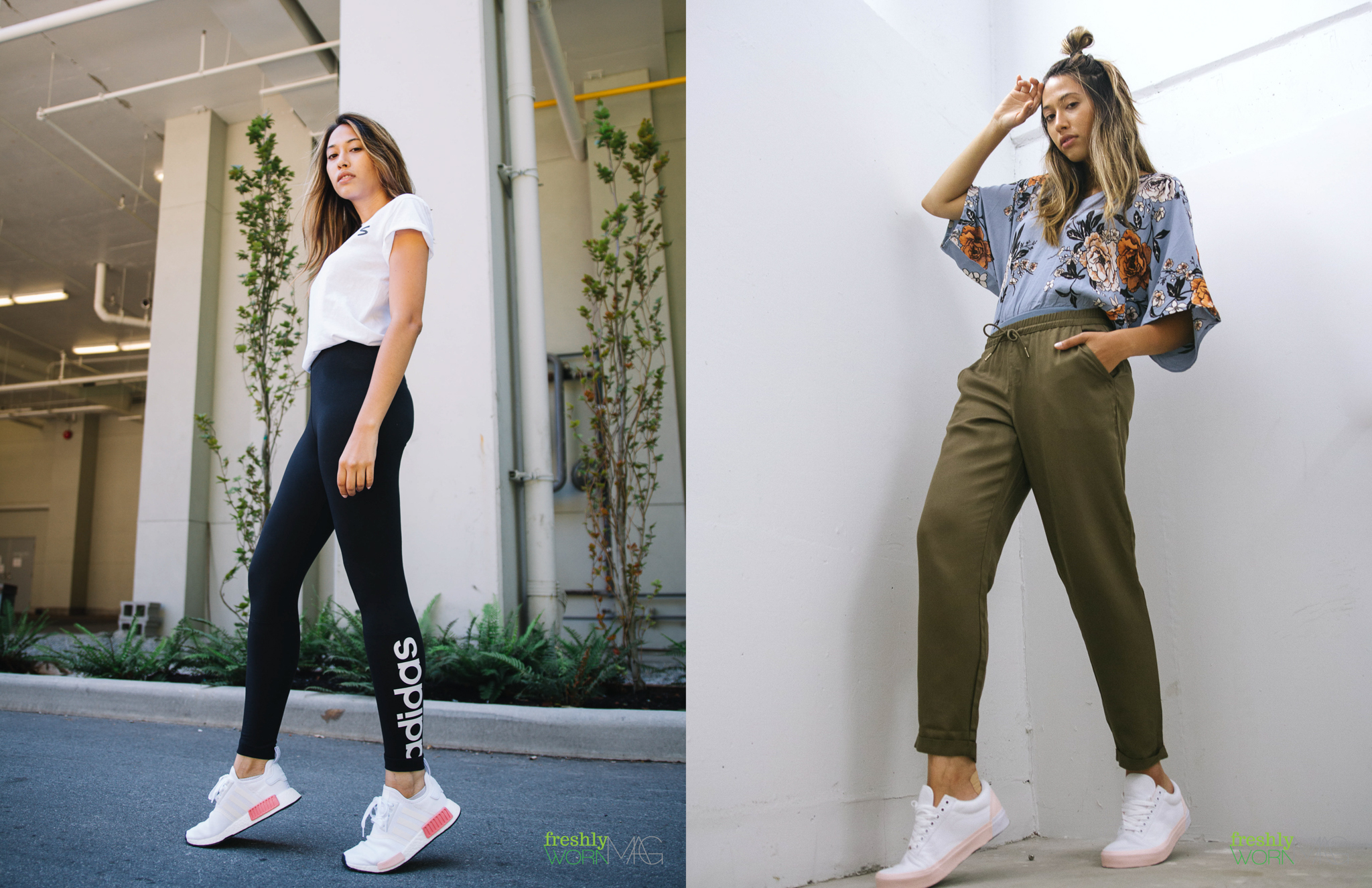 Top and pants from PLEN+Y  Classic shoes from Vans Canada