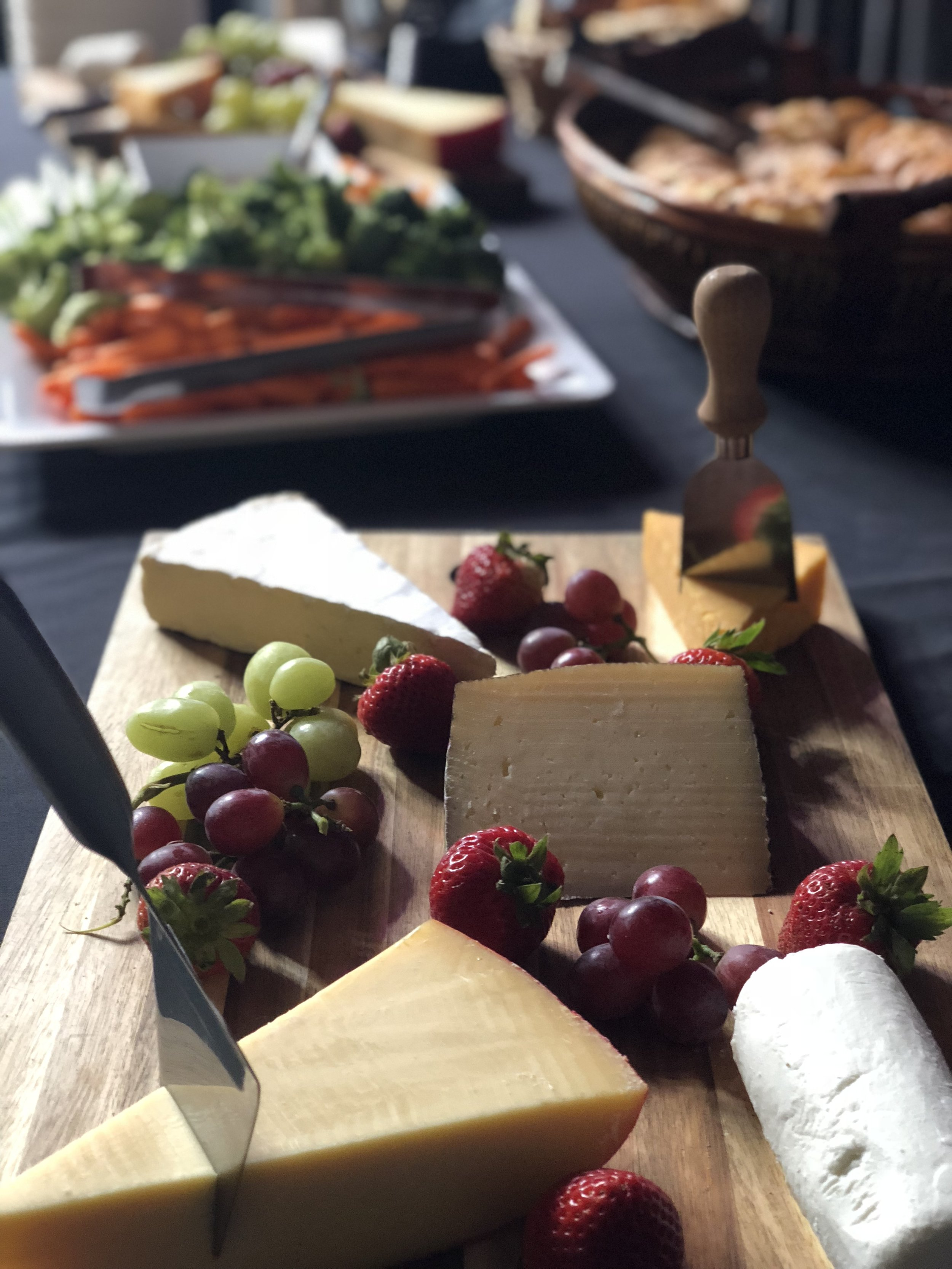 Private Event Food - Artisan Cheese, Charcuterie & Vegetable Platter