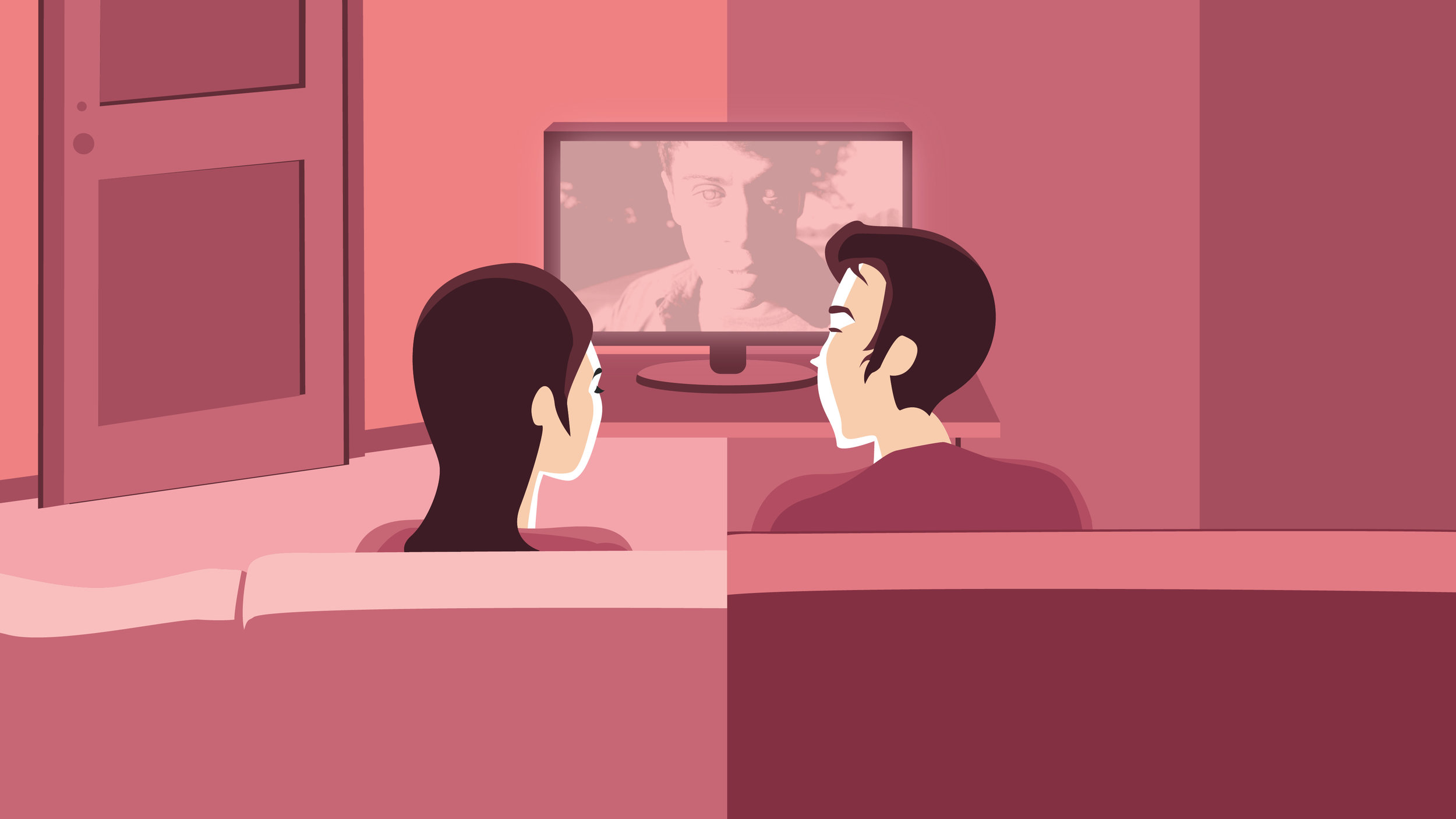 The movie begins to play on both Dylan and Lily's Television sets. Dylan and Lily are watching the movie as if they are in the same space.