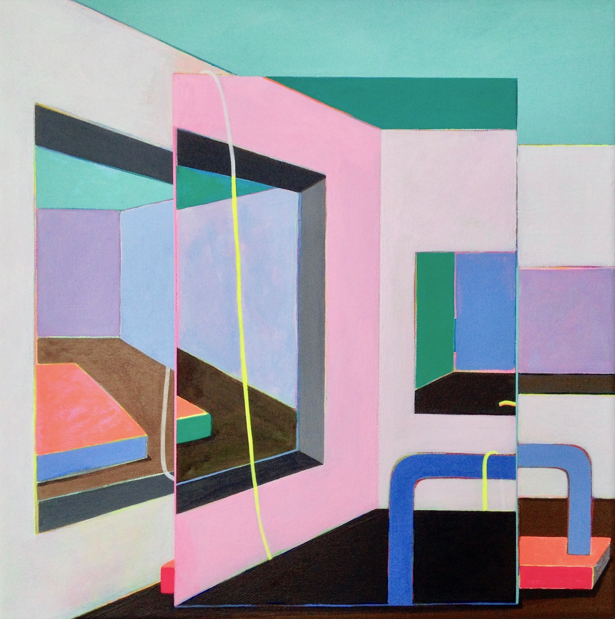 ELIZABETH JUNG  - Chicago, IL   Small Room #3   acrylic on canvas