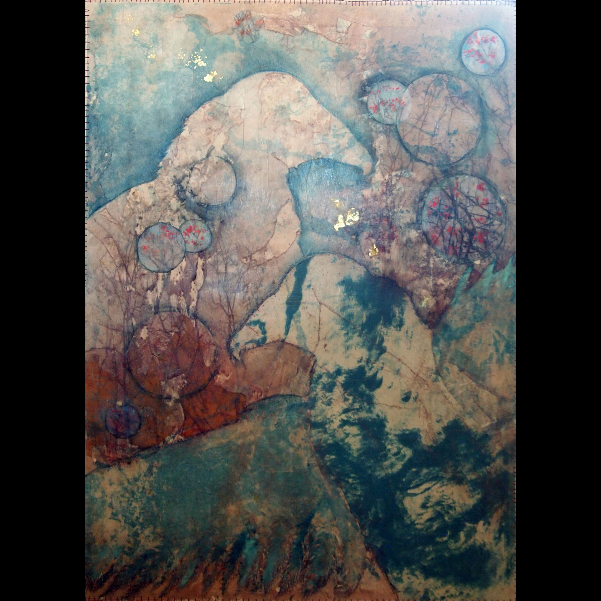 CATHYJEAN CLARK  - Nellsville, WI   Aura III   etching, litho, chine colle, $875