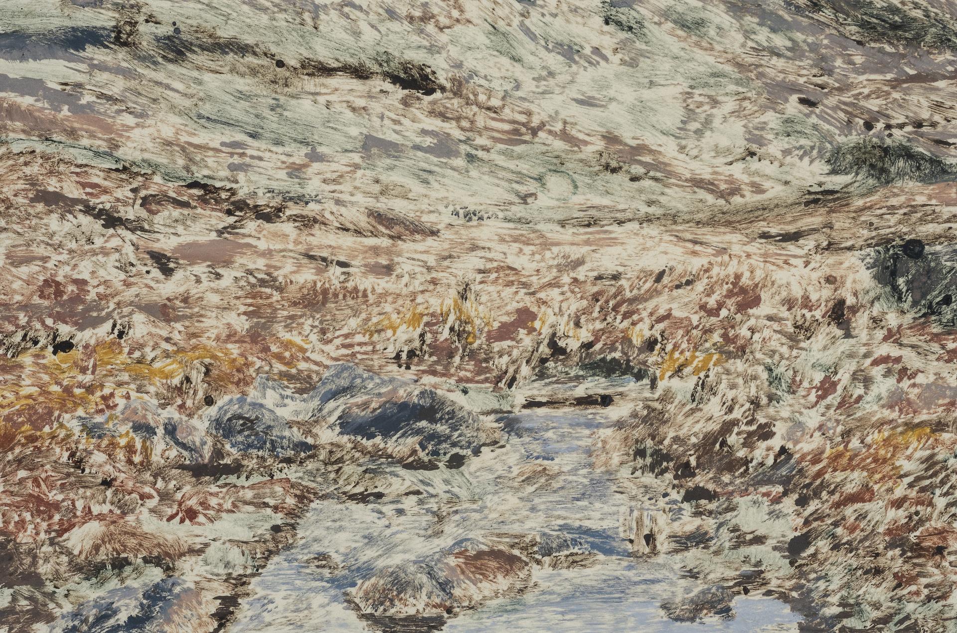 JULIE ENGLAND  - Dallas, TX   Mountain Stream I   monotype, $500