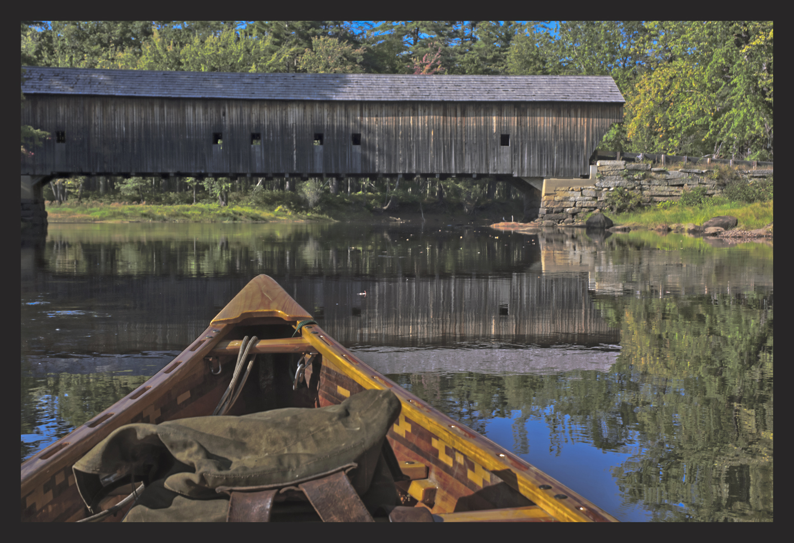 MEDALLION AWARD    DAVE HUPKE  - Pekin, IL   Hemlock Covered Bridge-Reflection   photography, $350