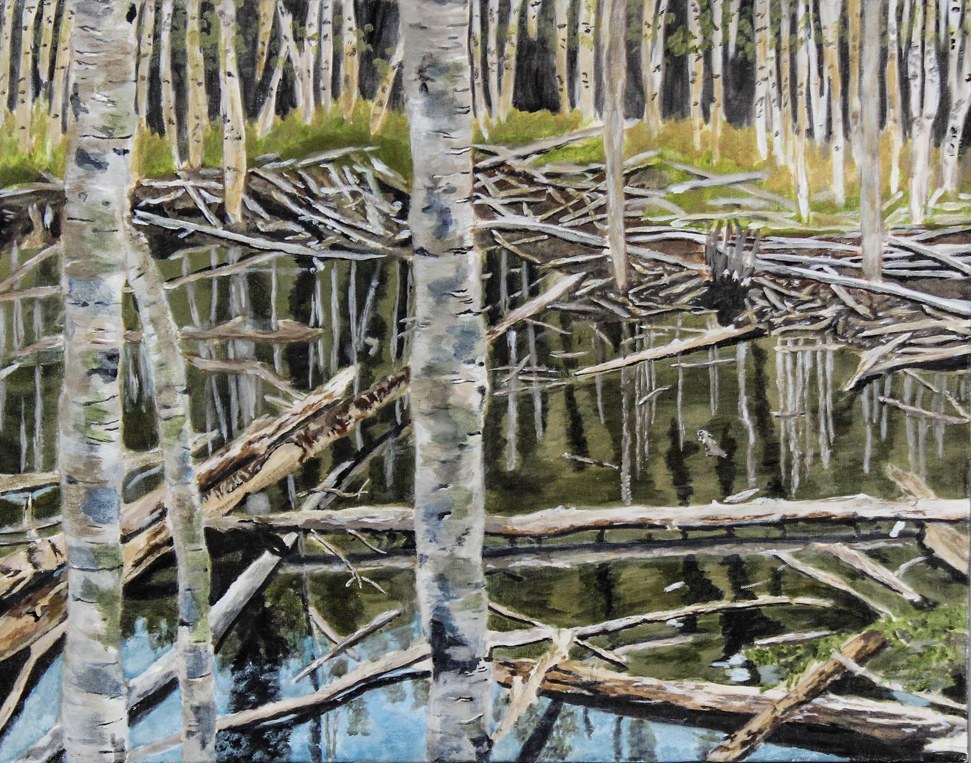ALEXIS ORTIZ  - Windsor, CO   Reflection   acrylic on canvas, $1,000