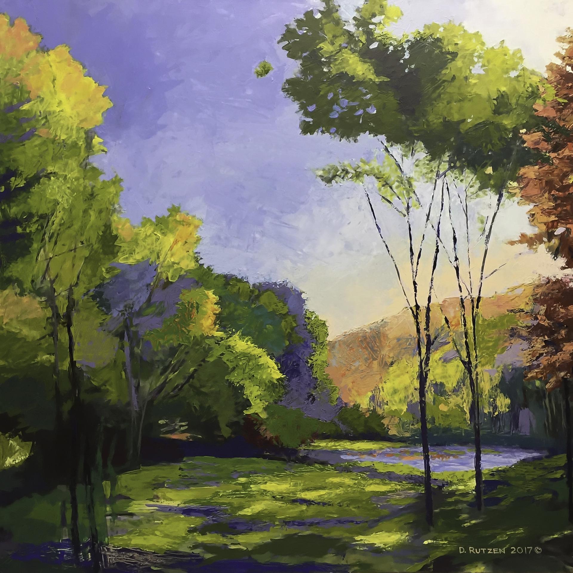 DOUGLAS RUTZEN  - Blandinsville, IL   Pocket Pond   acrylic on canvas, $1,000