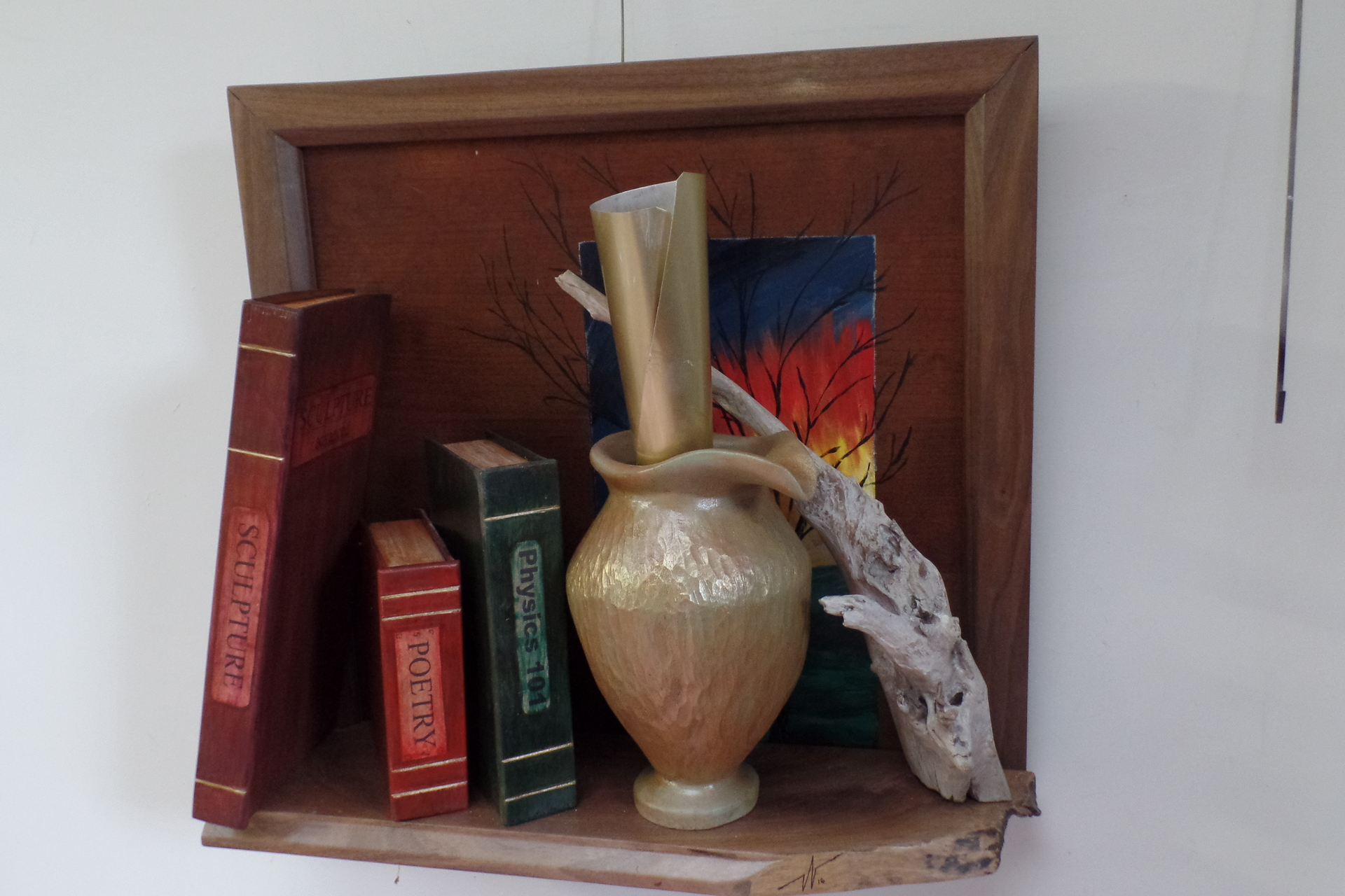 BILL WOHLFORD  - Bettendorf, IA   Inspiration Library   carved wood with acrylics, $695