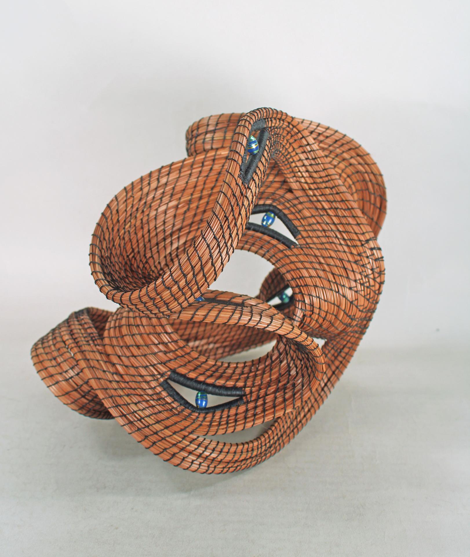 PEGGY WYMAN  - Macomb, MO   Starshine   fiber (pine needle), $495