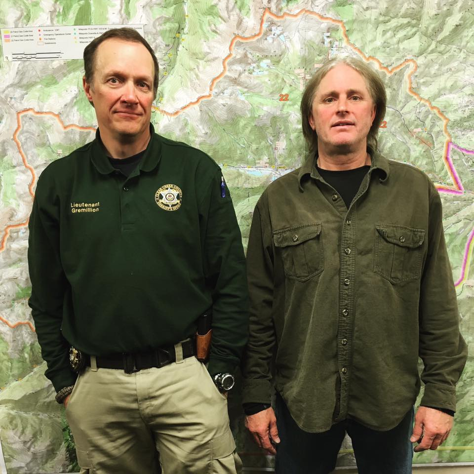 Lt. Steve Gremillion with Keith Reinhard's son, Kai-Allen Reinhard - April 2016