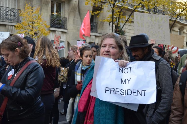 """Not my president."" © Lara Bullens"