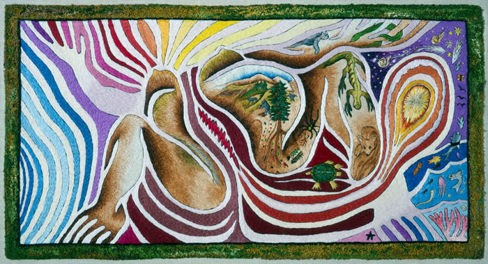 tapestry by Judy Chicago.