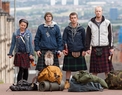 The whiskey-thieving quartet from Ken Loach's The Angels' Share