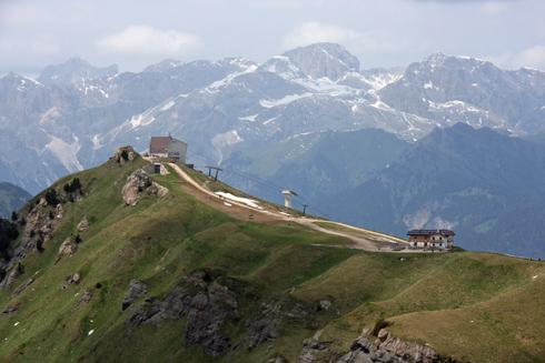 On the Viel dal Pan in the Dolomite's Val di Fassa.