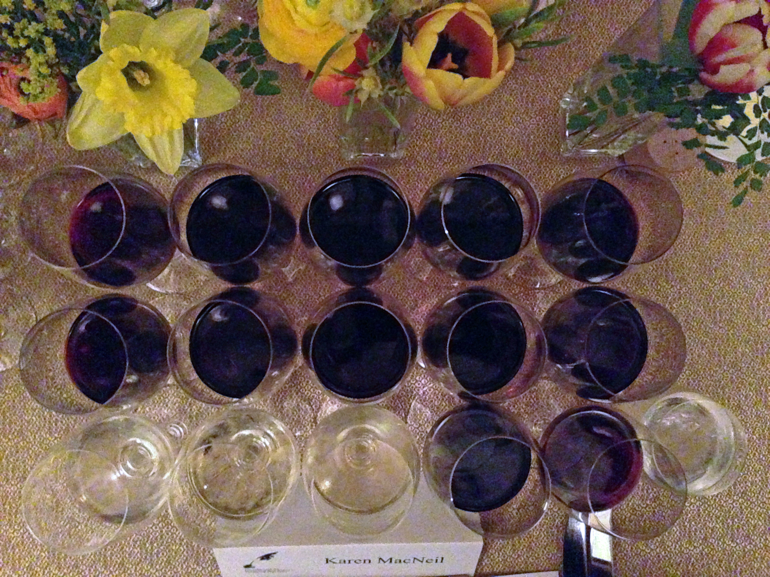 Wines from the fellowship sponsors during our farewell dinner