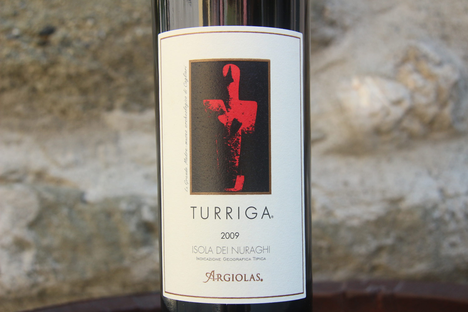 Argiolas' flagship wine, which helped put Sardinia on the map among wine cognoscenti. The label features a Nuragic fertility statue found on their property, now in the Cagliari museum.
