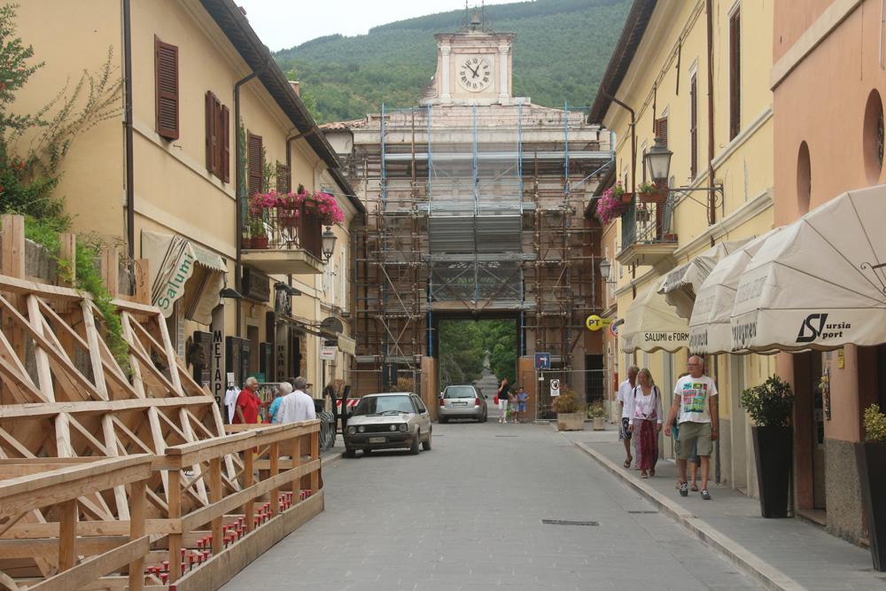 Norcia's main street.