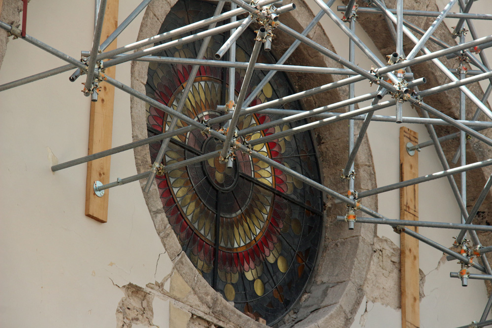 The basilica's rose window
