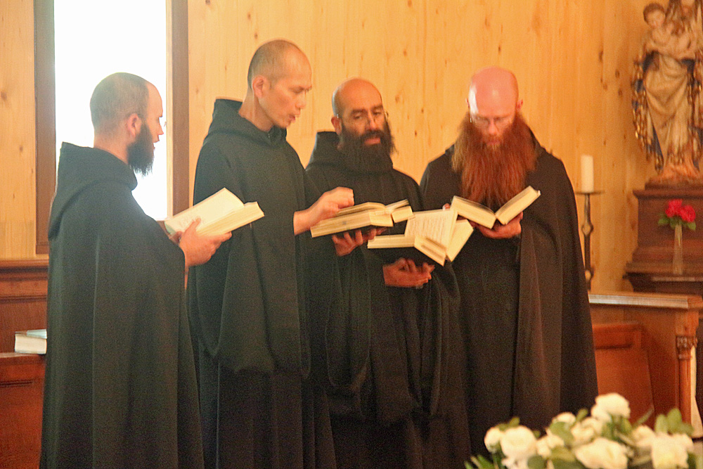 The monks celebrate a wedding anniversary.