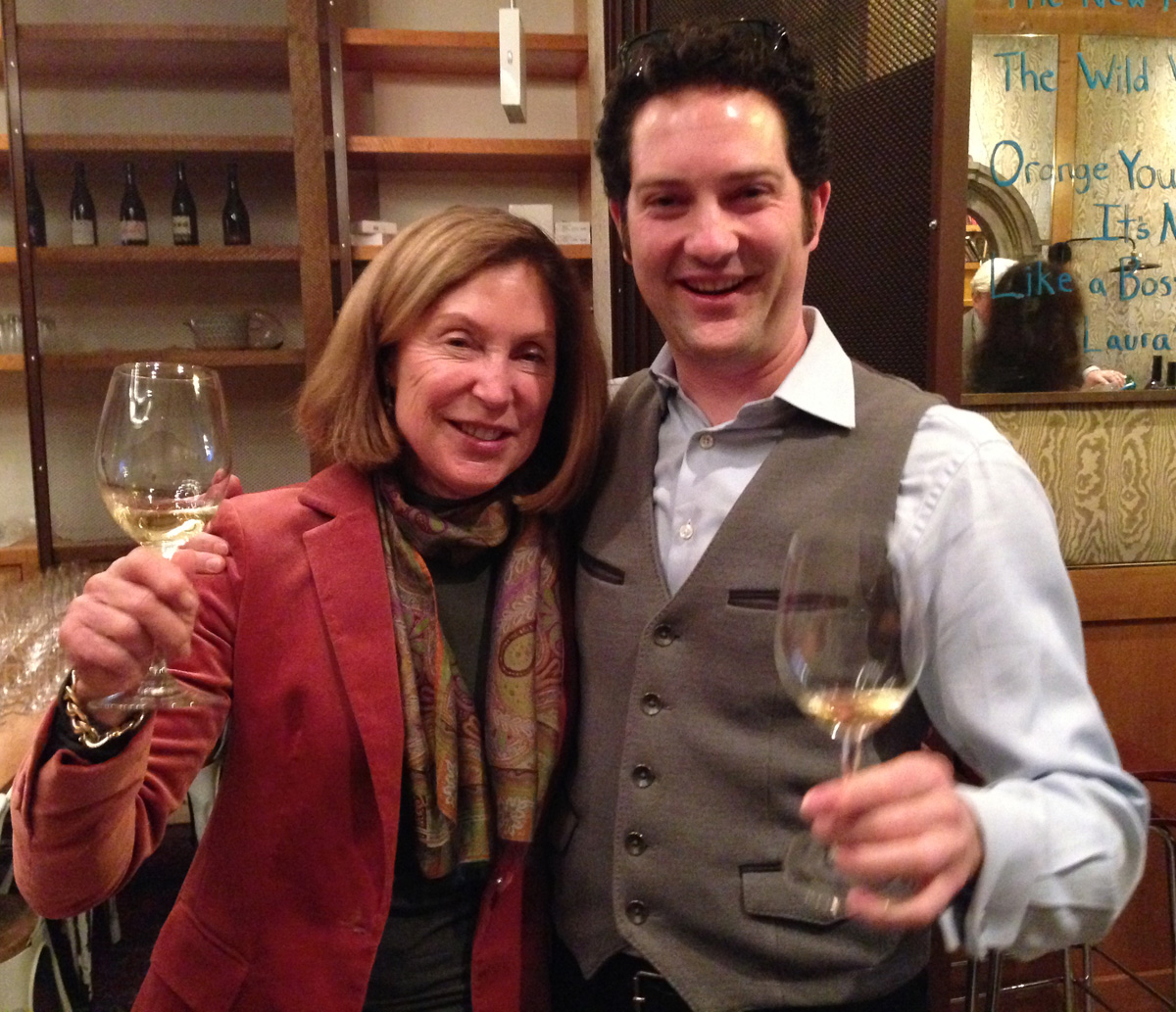 Janet Trefethen and Lorenzo at Corkbuzz in NYC.