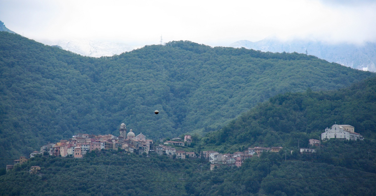 A village in the Apuan Alps