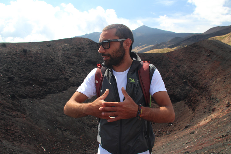 Paolo Turnaduri, a geologist guide from Etna People