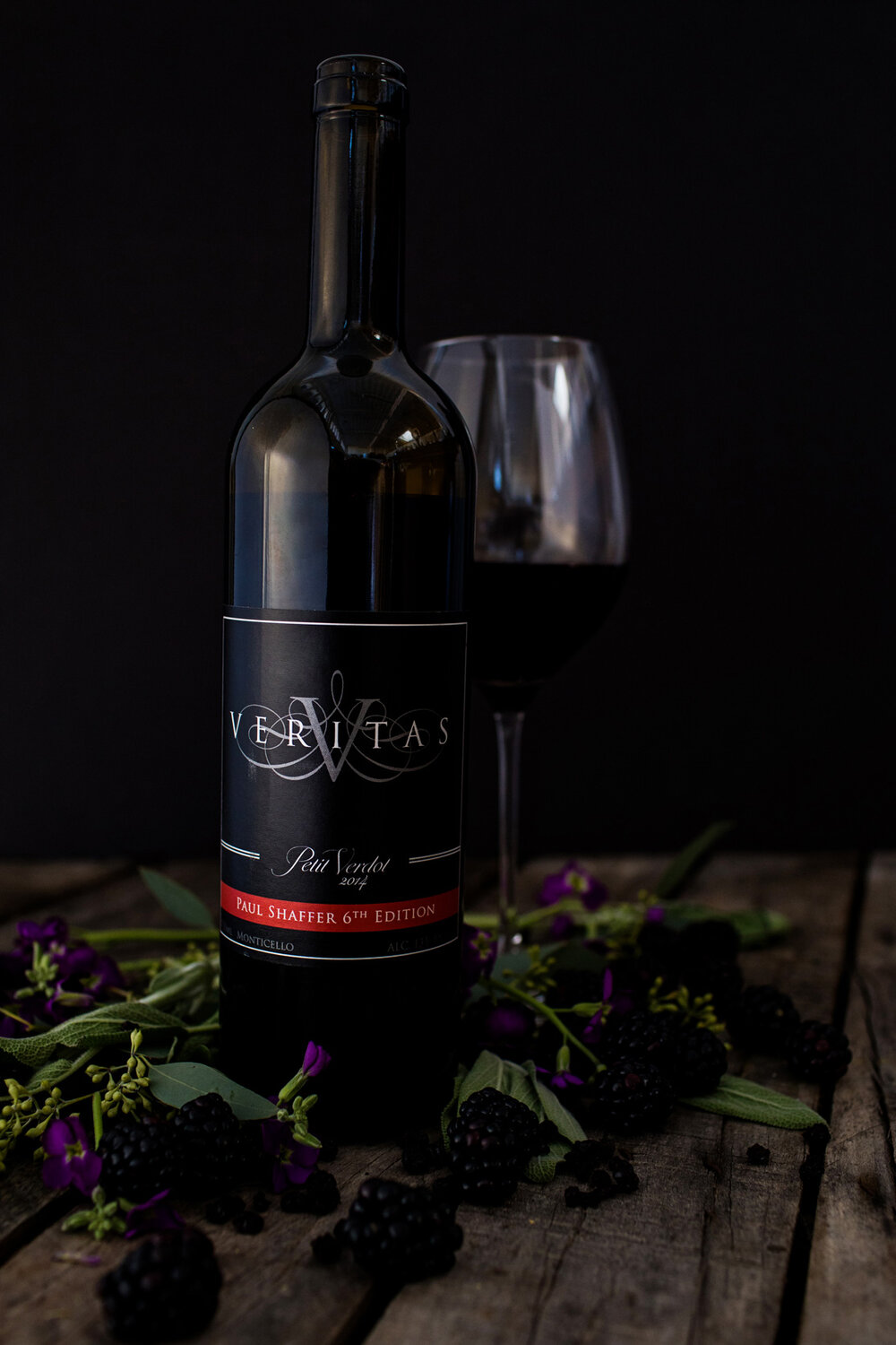 veritas's flagship petit verdot, a grape that does well in its adopted home