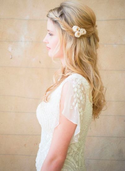Ivory Rose Bud Hair Pins - £24SHOP NOW