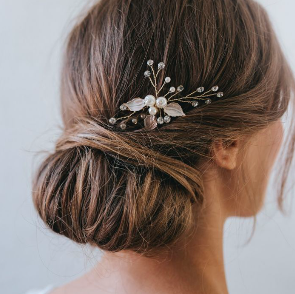 Gracie pearl and crystal gold hair pin - £35SHOP NOW