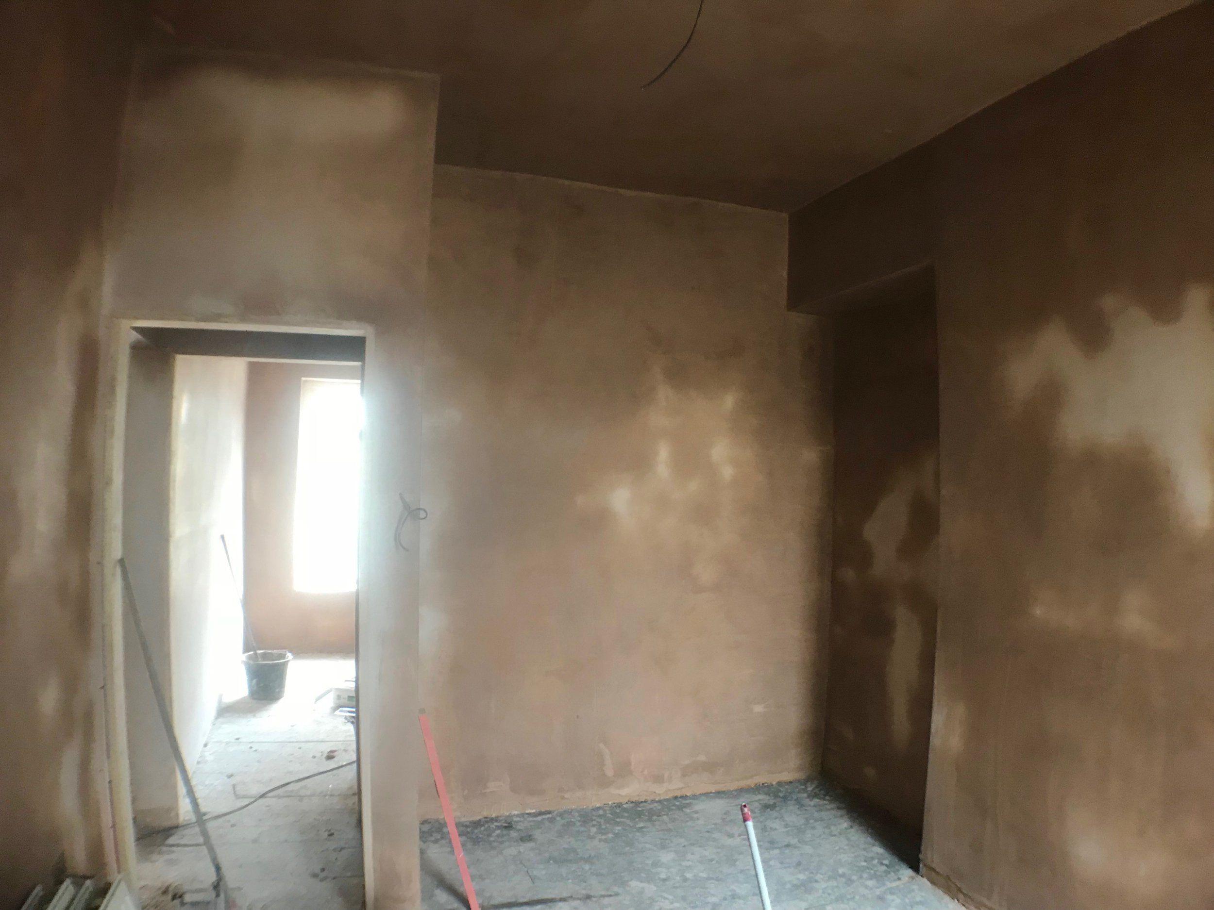 During Photo - 4th bedroom in and plastered