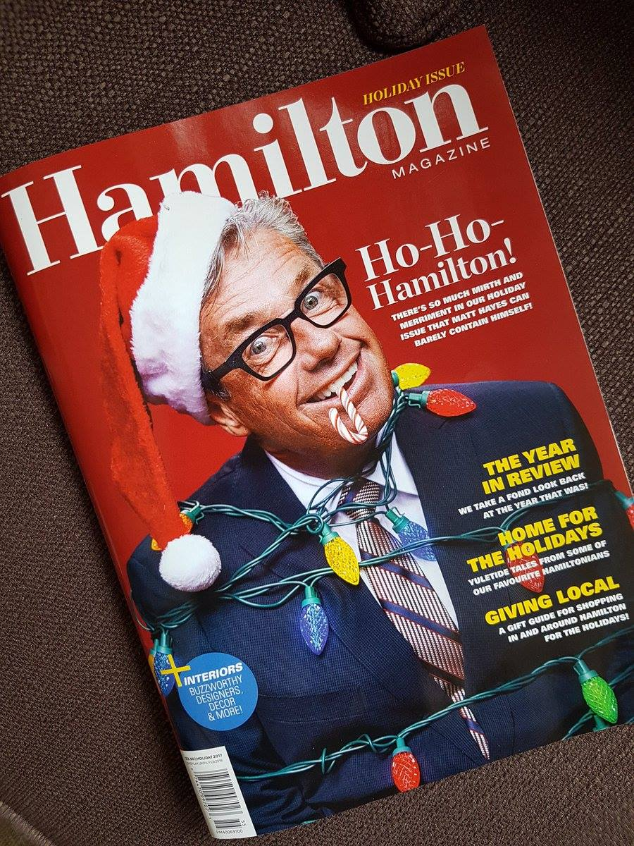HAMILTON MAGAZINE - I am beyond thrilled to have my pictures published in the holiday issue of Hamilton Magazine! They are featured in the Holiday Gift Guide, which showcases the best local places to shop in Hamilton.