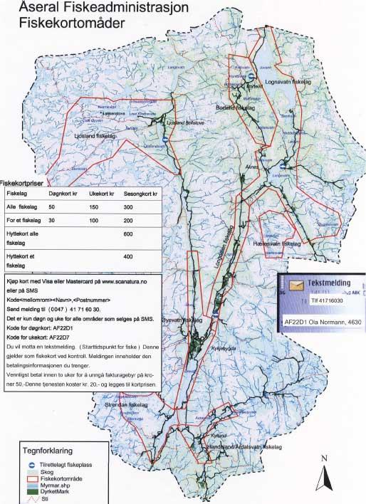 ….Åseral Fiskeadministrasjon (ÅFA) selger felles fiskekort for de fleste elvene i Åseral. ..The fishing administration (Åseral Fiskeadministrasjon, ÅFA) sells fishing permits for lakes and rivers in Åseral. ….