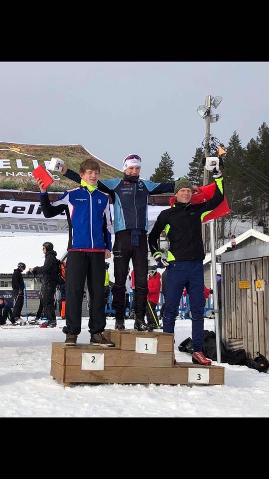 1. plass Marius Bakken, 2. plass Tor Olav Svaland, 3. plass Asbjørn Lohne på lørdagens Bortebeiner i klassisk stil.