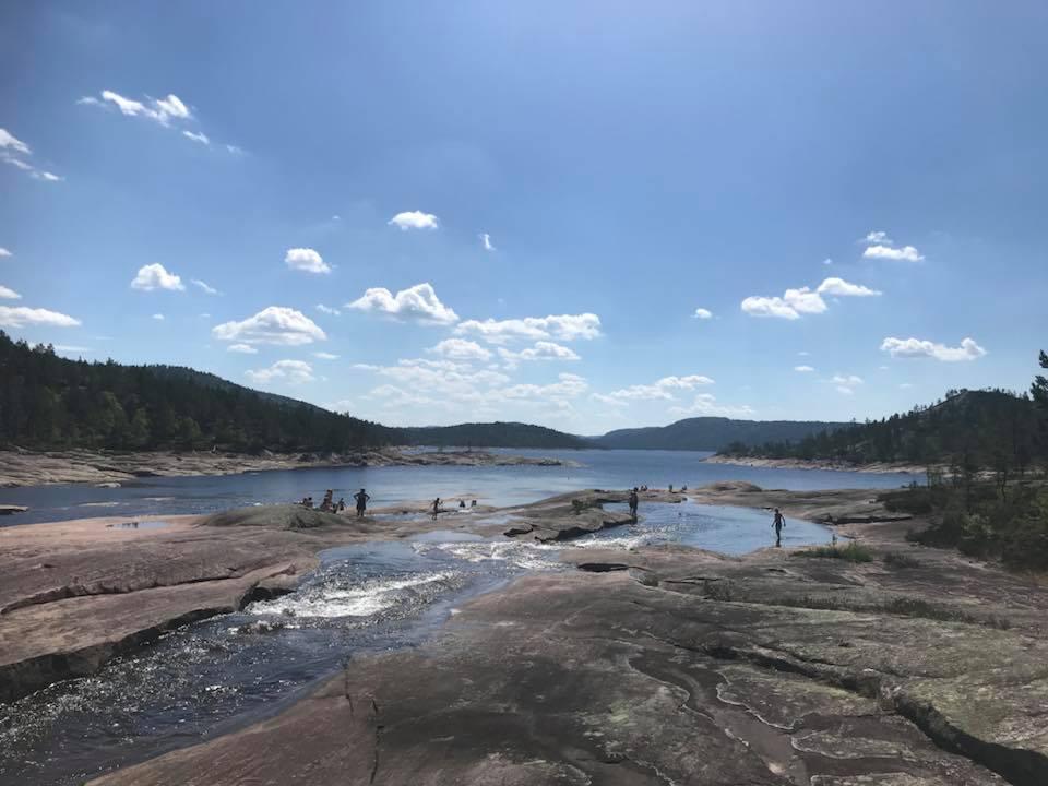 Badeplass i Nordenden av Juvatn