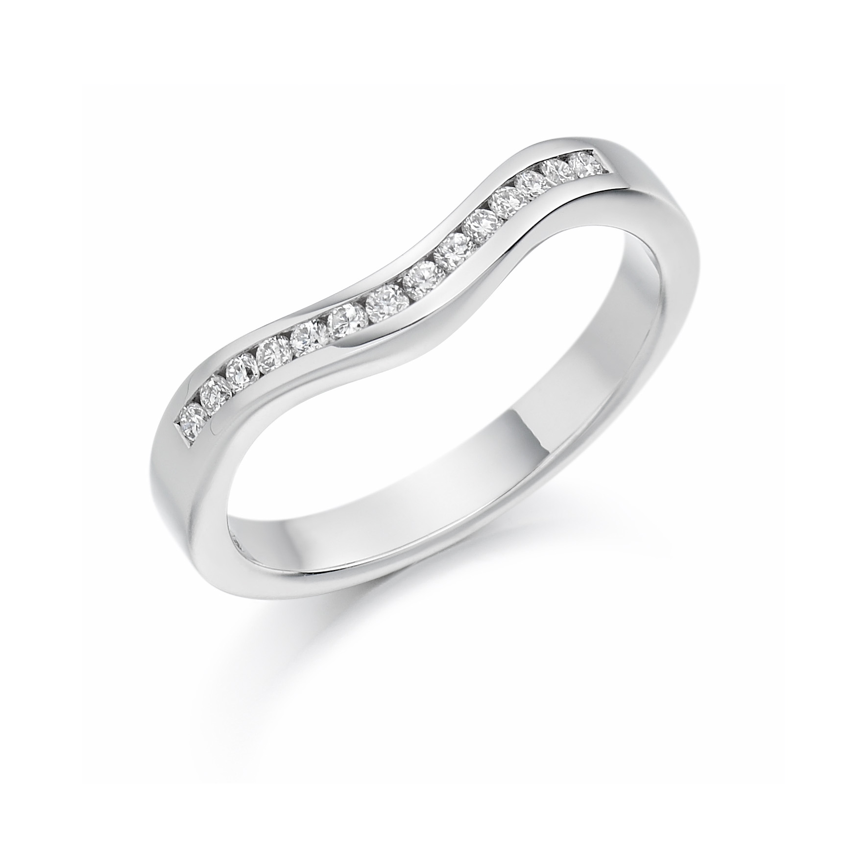 0.17ct brilliant cut shaped eternity in 18ct gold.