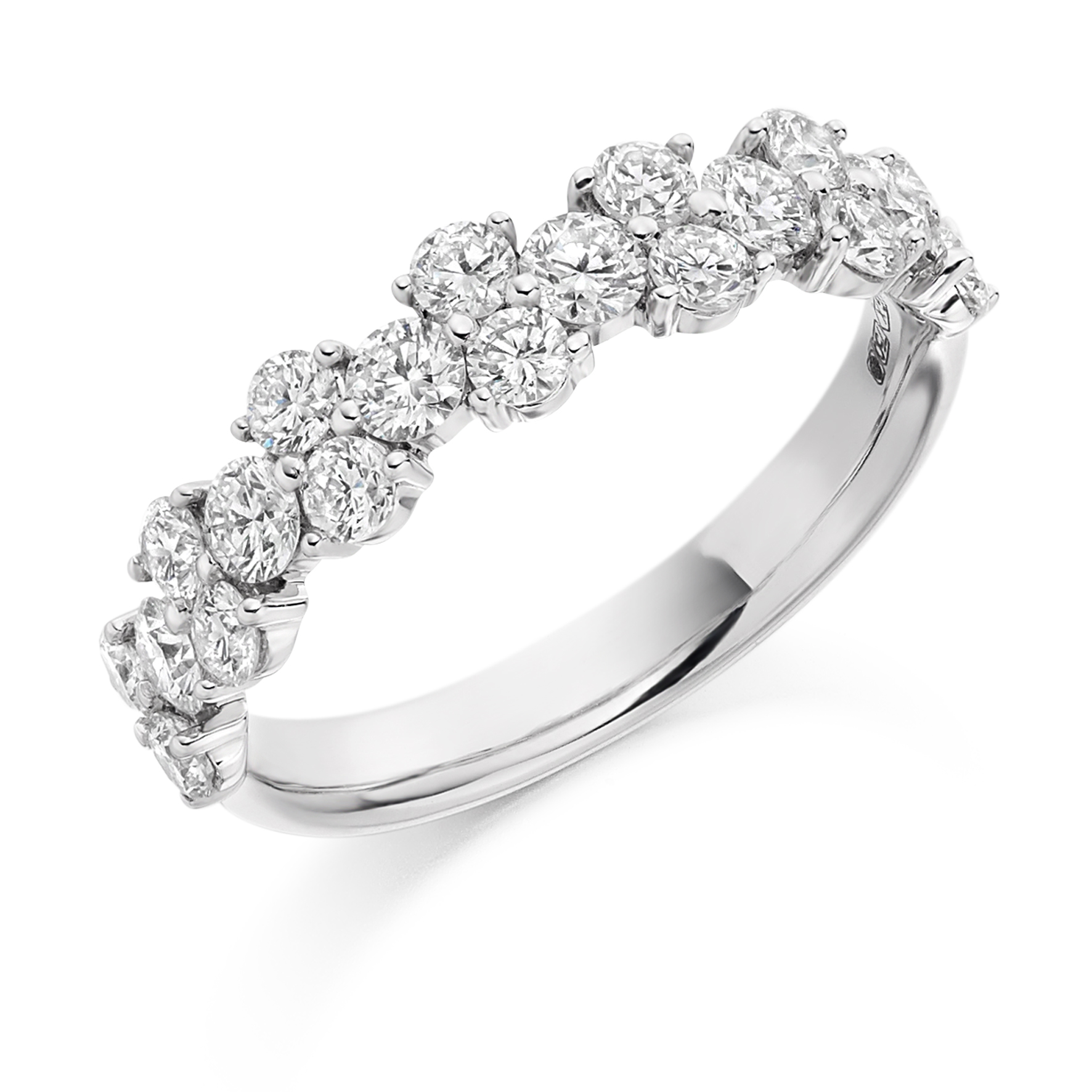 1.20ct brilliant cut diamond claw set ring in 18ct gold.
